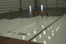 a commercial project for an epoxy floor contractor