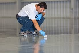 spot checking of an epoxy floor contractor