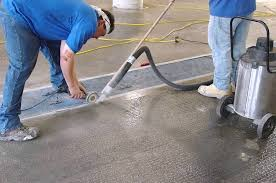 a garage project for an epoxy floor contractor
