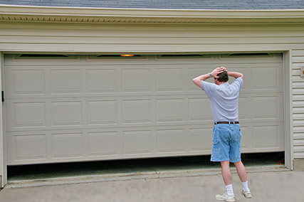 You will be needing a garage door repairs technician when your door won't close completely